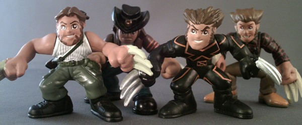 Marvel Super Hero Squad WOLVERINE w// BONE CLAWS Congo Assault Wave 3 Evolution