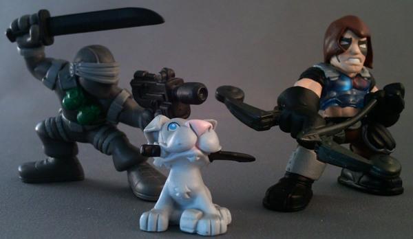 Joe Combat Heroes Snake Eyes bleu épée G.I