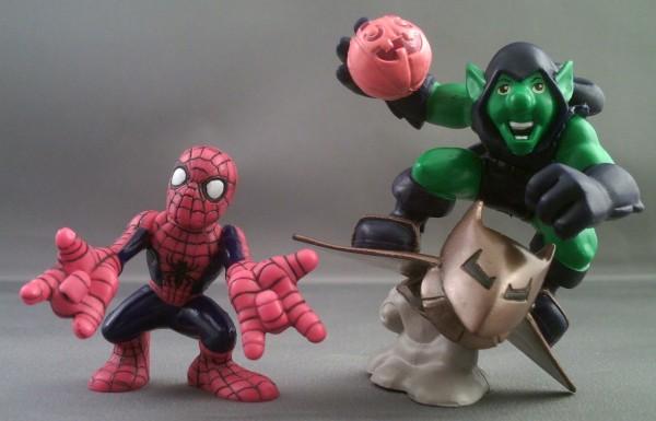 SUPER HERO SQUAD 2008 MARVEL GREEN GOBLIN /& SPIDER-MAN SET