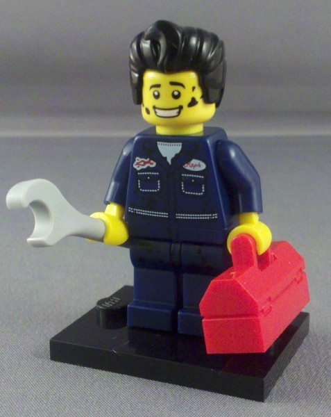 Lego Series 6 Minifigures Mechanic Open - 8827