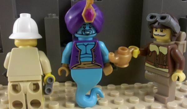 """LEGO Collectible Minifigure #8827 Series 6 /""""GENIE/"""" Complete"""
