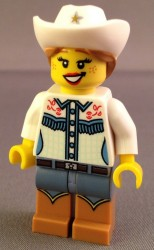 Lego Series 8 Collectible Minifigure Review Cowgirl 8833