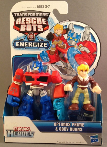 Transformers Rescue Bots Energize Optimus Prime & Cody Burns
