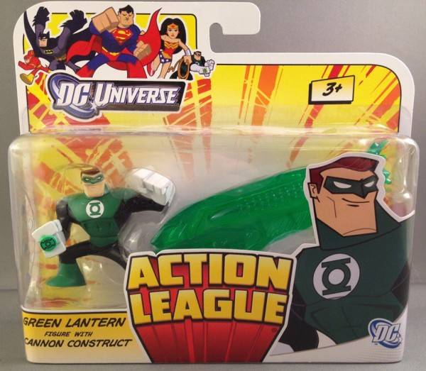 DC Universe Action League Green Lantern Hal Jordan with Cannon Construct