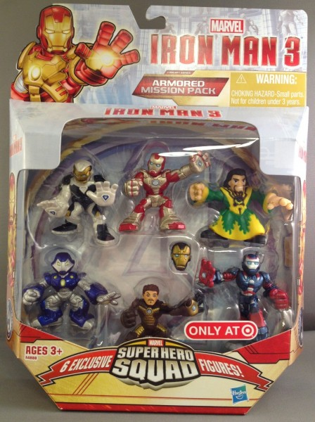 Iron Man 3 Super Hero Squad Armored Mission 6-pack