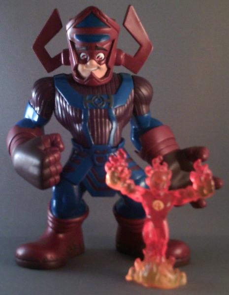 Marvel Super Hero Squad torche humaine Johnny Storm 4 fantastiques de Galactus Pack